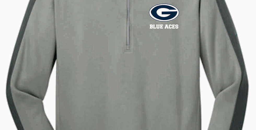 Blue Aces Grey Nike 1/4 Zip