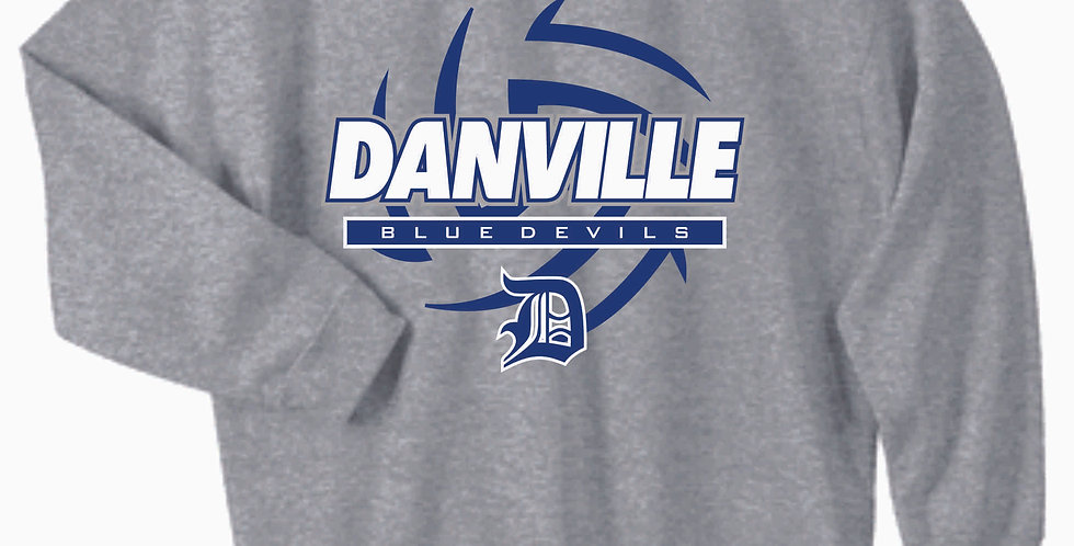 Danville Volleyball Grey Cotton Sweatshirt