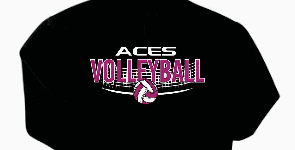 Aces Volleyball Gildan Cotton Black Hoody