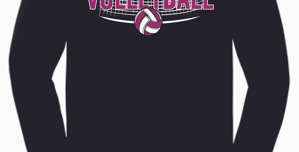 Aces Volleyball Original Black Cotton Longsleeve Tee