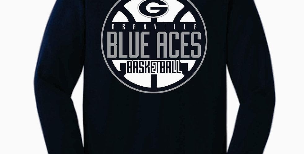 Blue Aces Navy Cotton Longsleeve T-Shirt