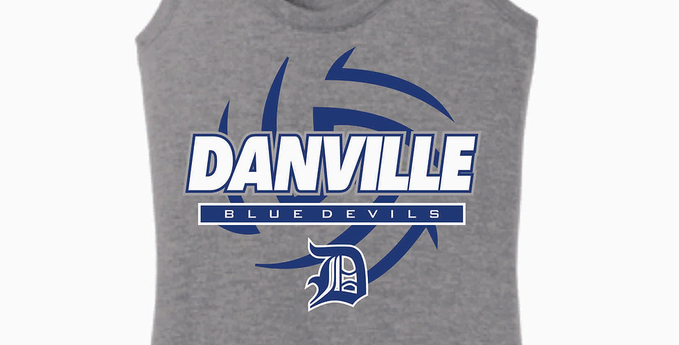 Danville Volleyball Grey Women's Tank