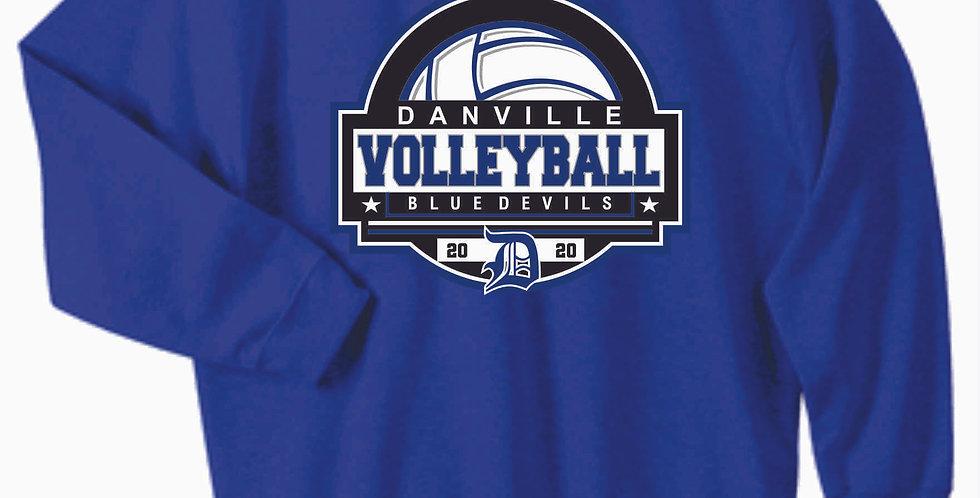 Danville Volleyball Royal Cotton Sweatshirt