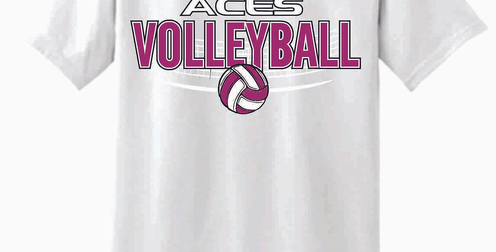 Aces Volleyball Original White T Shirt