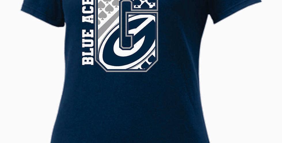 GHS Nike Generic Navy Ladies Core Cotton Scoop Neck Tee