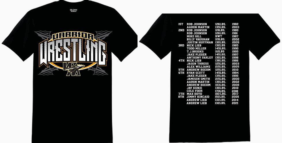 Watkins High School Wrestling Black Gildan Cotton T Shirt