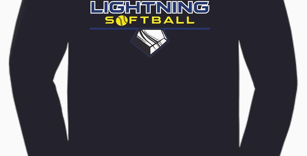 Lightning Black Cotton Longsleeve