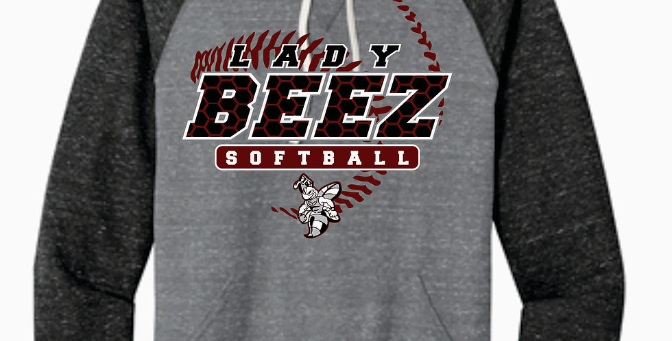 Lady Beez Grey Two Toned Heather Soft Hoody