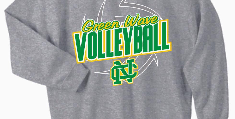 NC Volleyball Grey Cotton Crew