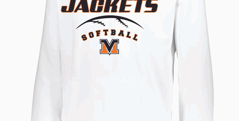 Mount Vernon Softball White Poly Hoody