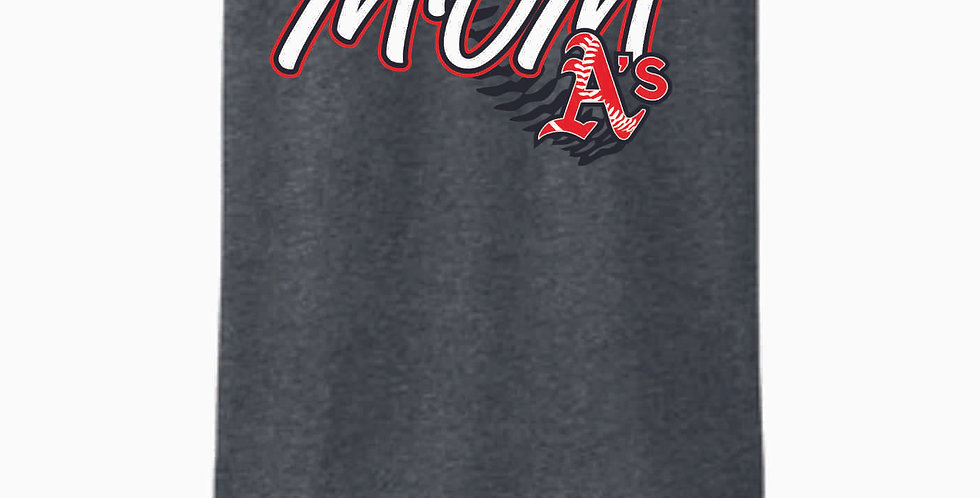A's Baseball Mom Grey Cotton T Shirt