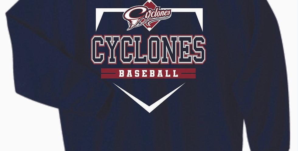 Cyclones Cotton Navy Crew