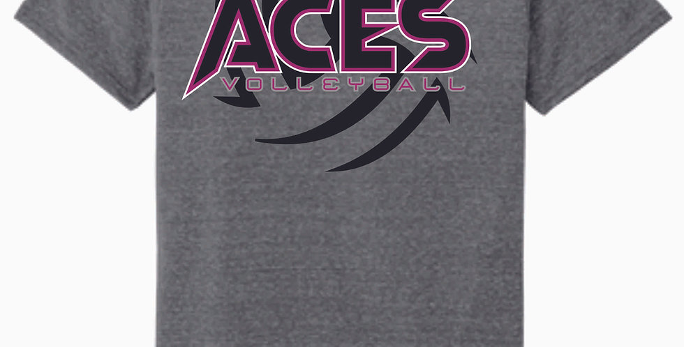 Aces Volleyball Grey Soft T Shirt
