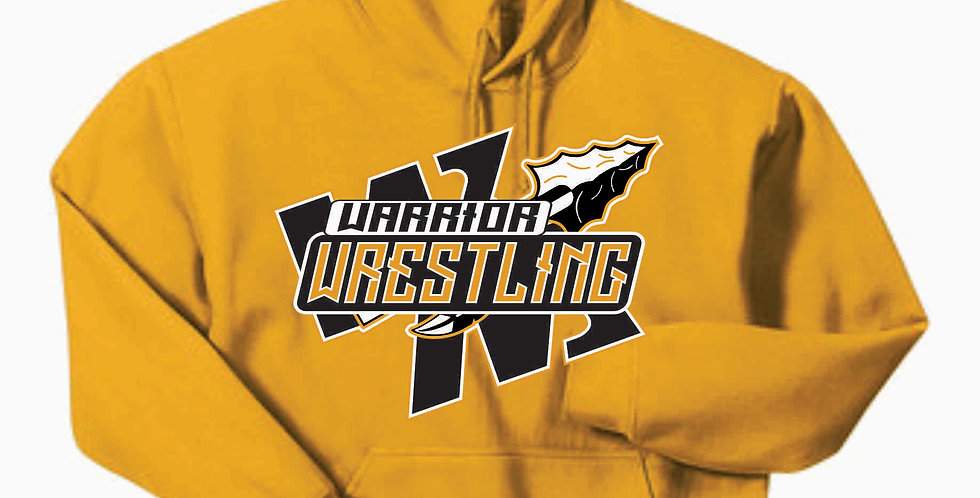 Watkins Youth Wrestling Gildan Cotton Gold Hoody