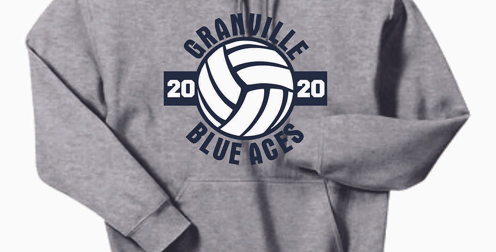 Granville Volleyball Grey Cotton Hoody
