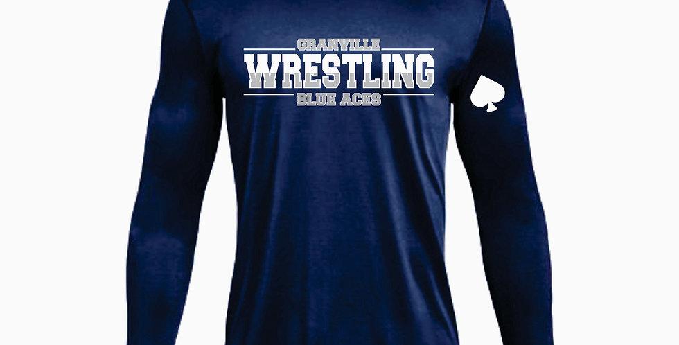 Granville Wrestling Under Armour Navy Dri Fit Longsleeve