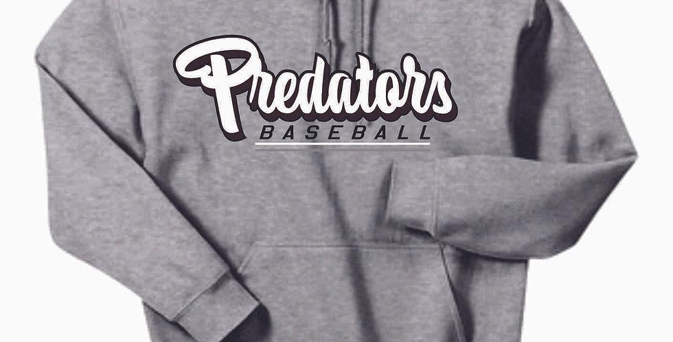 Predators Script Grey Cotton Hoody