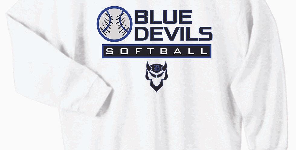 Danville Softball White Cotton Crewneck