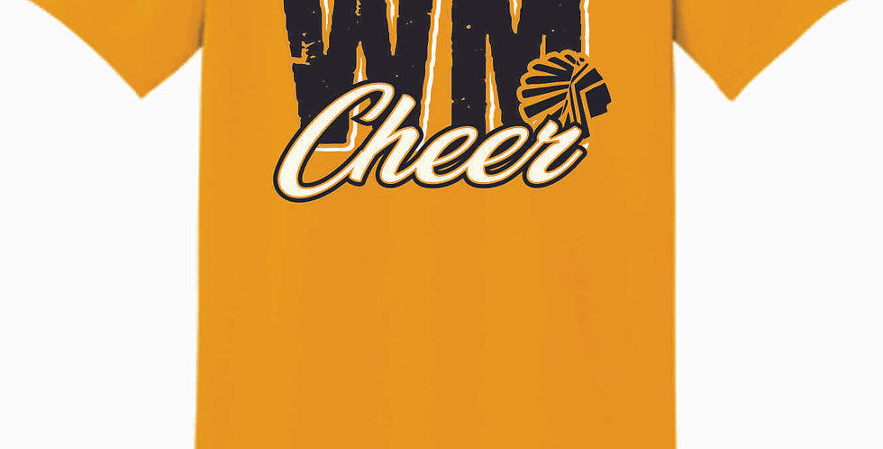 Watkins Cheer Gold Cotton T Shirt