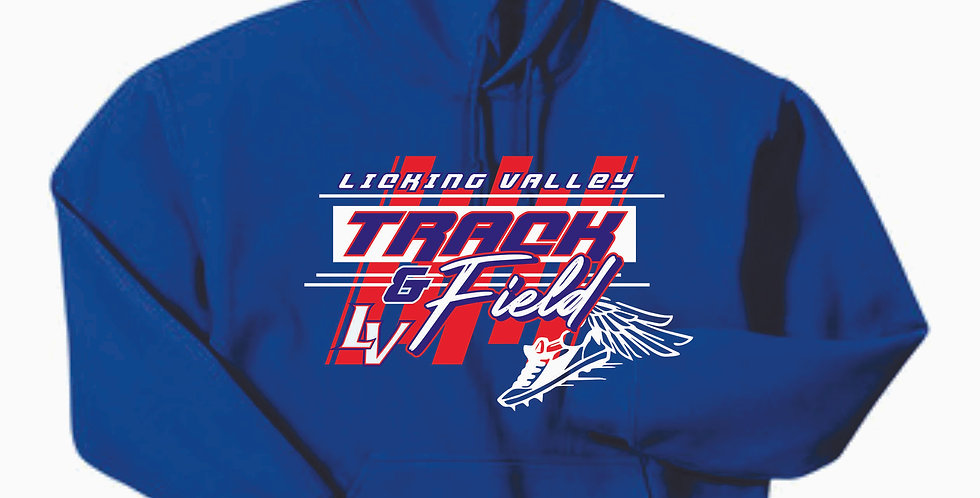Licking Valley Track and Field Royal Hoody