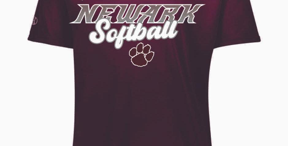 Newark Softball Maroon Shortsleeve Dri Fit