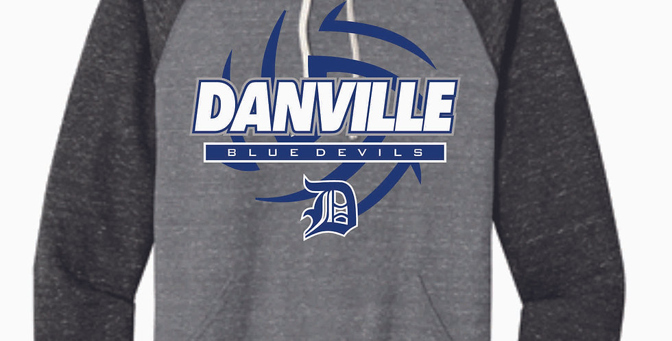 Danville Volleyball Grey Snow Heather Hood