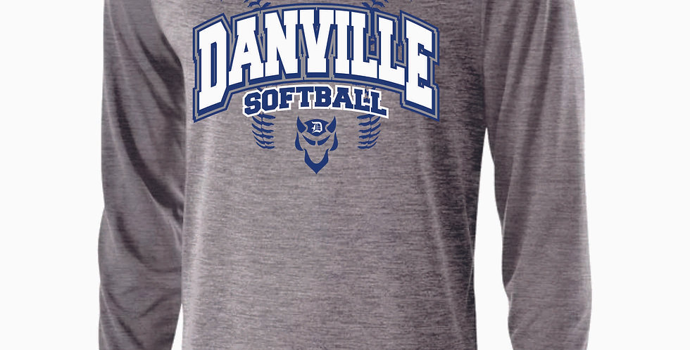 Danville Softball Grey Dri Fit Longsleeve