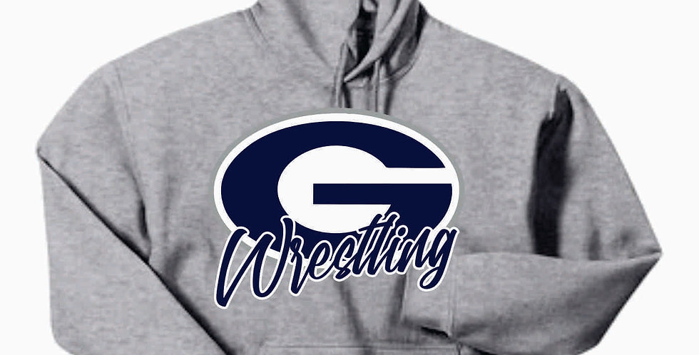 Granville Wrestling Grey Simple Hooded Sweatshirt