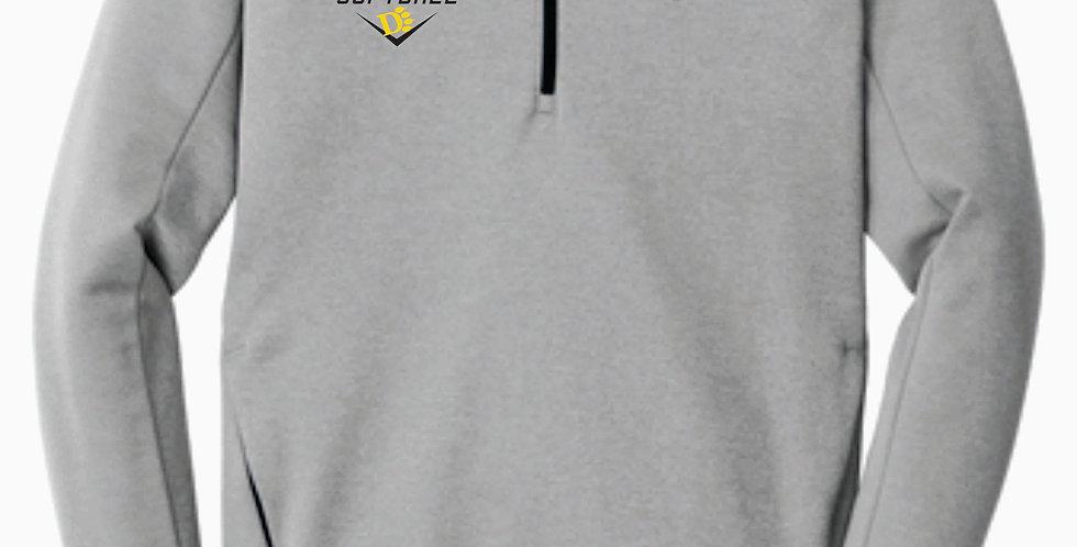 ODU Softball Nike 1/4 Zip Grey