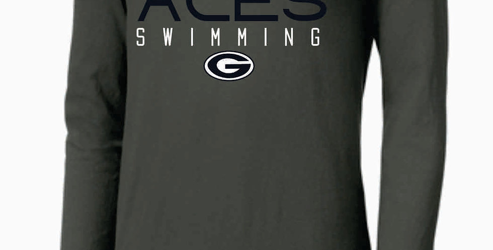 GHS Swimming Grey Nike Core Cotton Long Sleeve