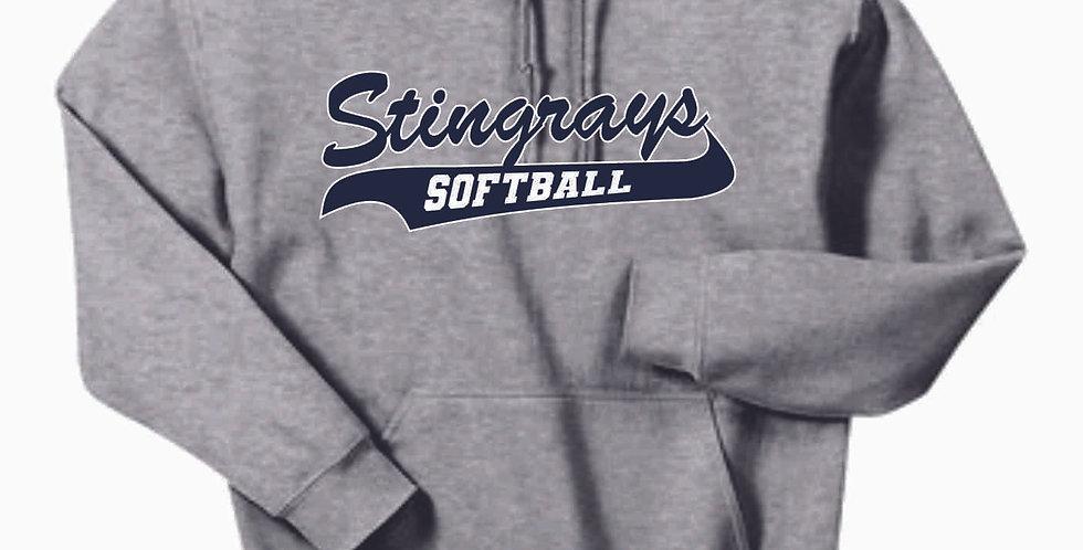 Stingrays Cotton Dark Heather Hoody