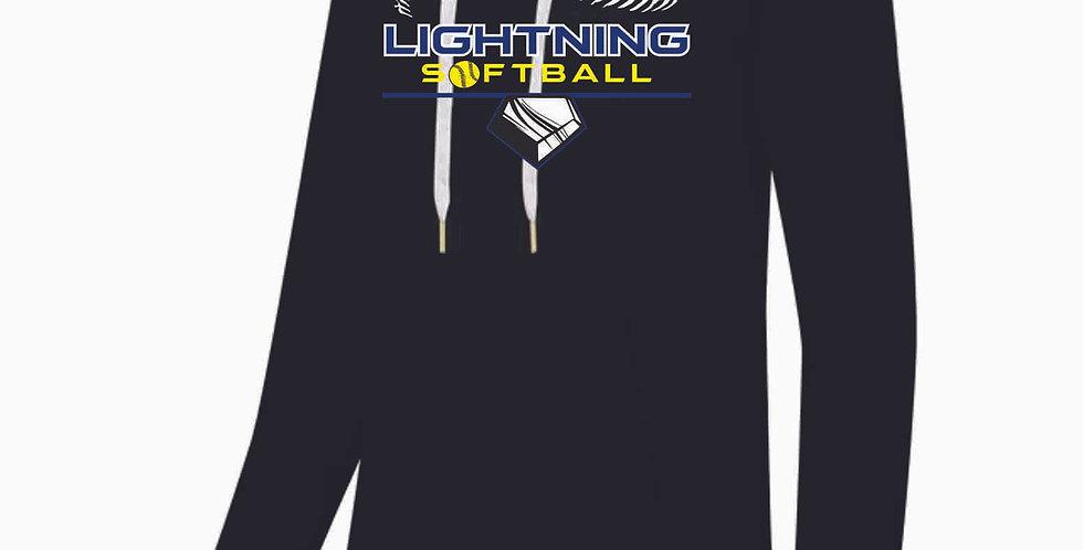 Lightning Black Ladies Hoody