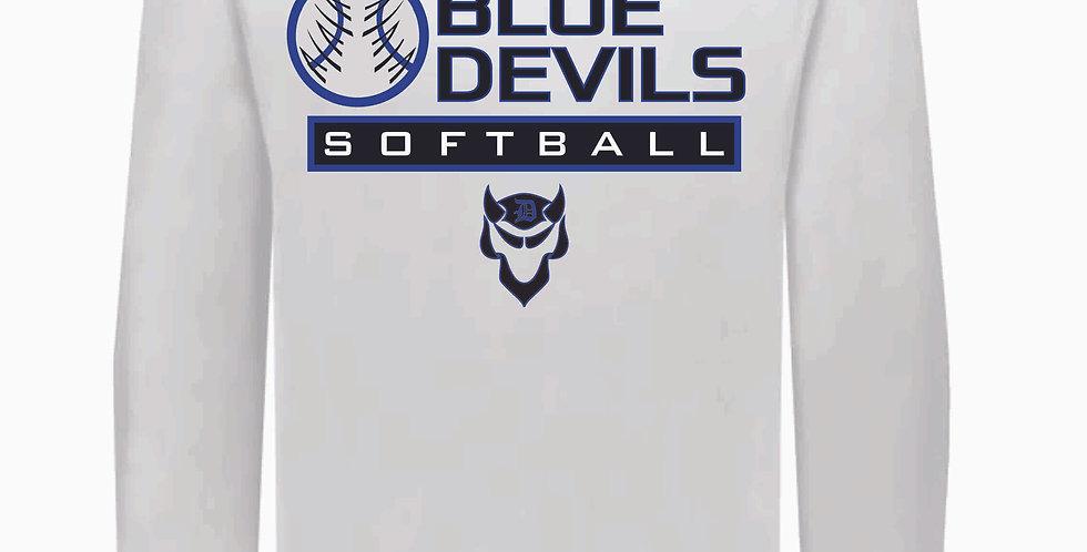 Danville Softball White Dri Fit Longsleeve