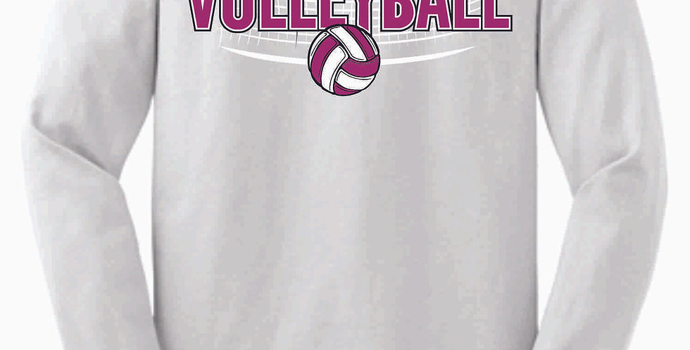 Aces Volleyball Original White Cotton Longsleeve Tee