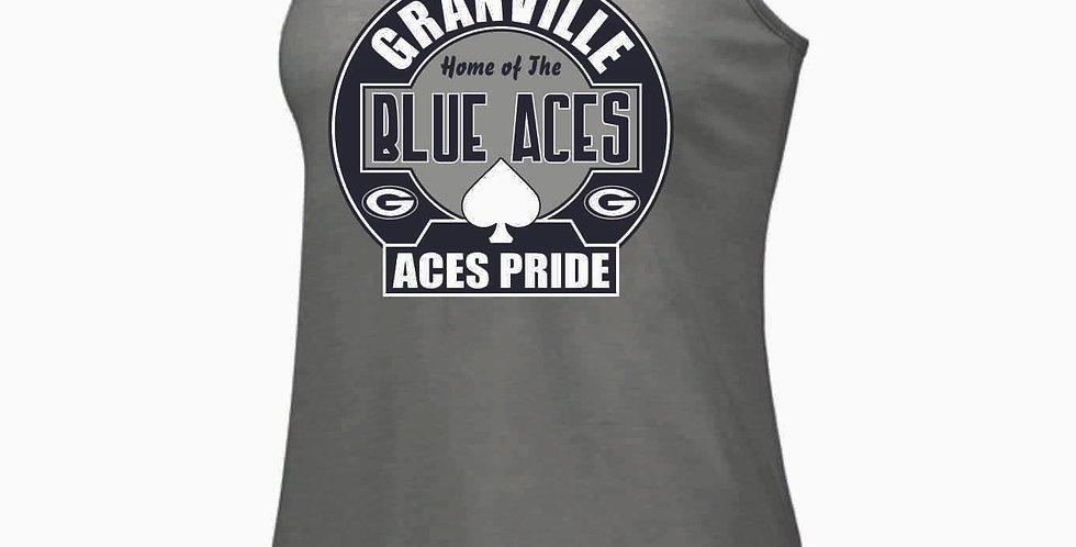 Blue Aces Grey Tri Blend Tank