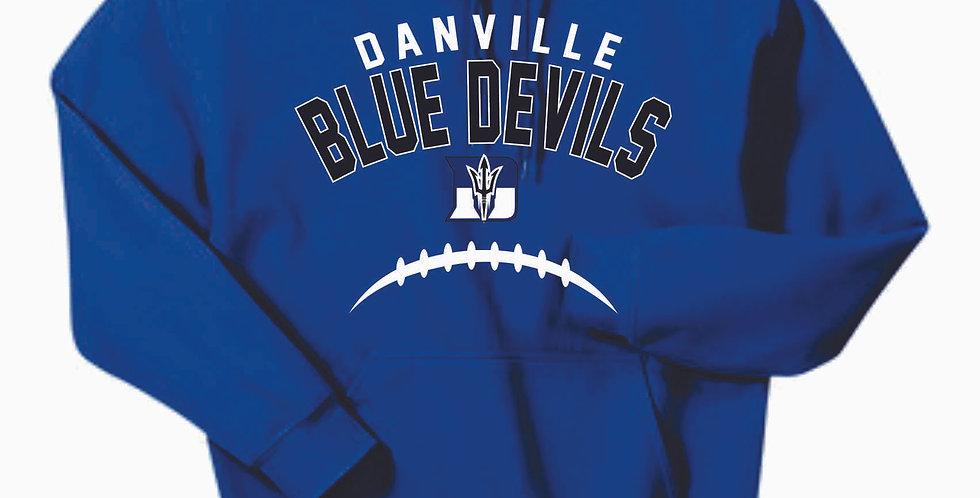 Danville Football Royal Cotton Hoody