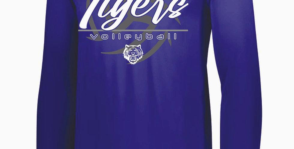 Tiger Volleyball Purple Ball Longsleeve Dri Fit