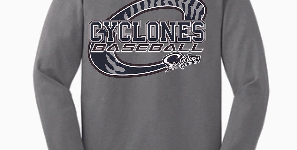 Cyclones Baseball Grey Cotton Longsleeve