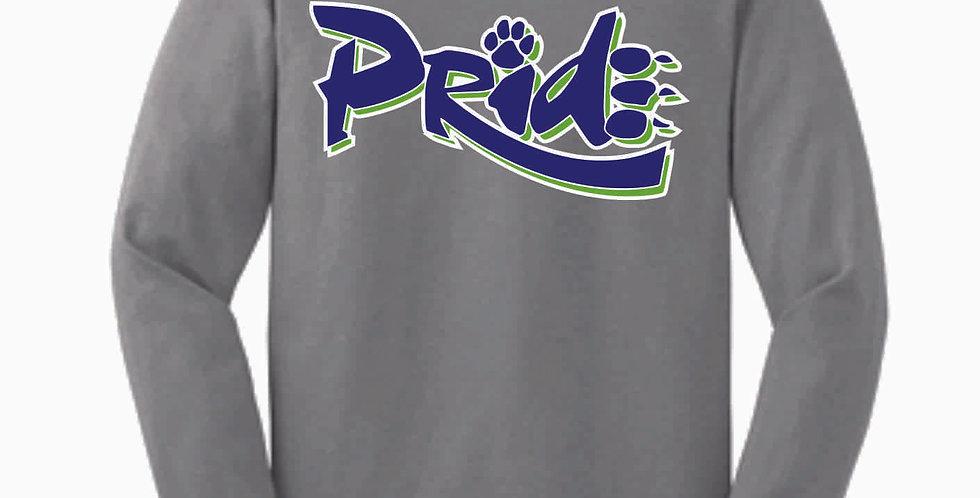 Pride Grey Cotton Longsleeve T Shirt