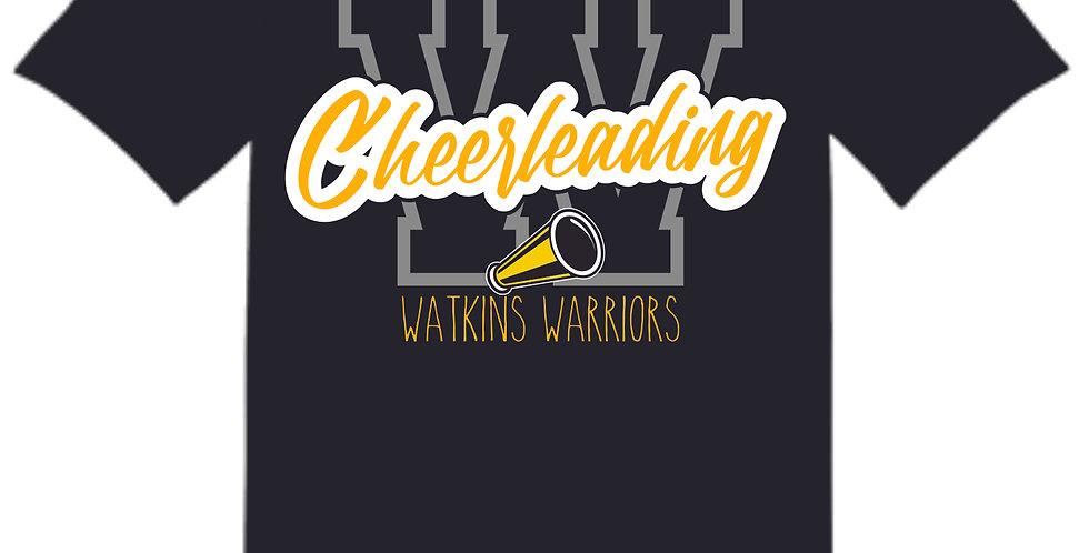Watkins Cheer Black Cotton T Shirt