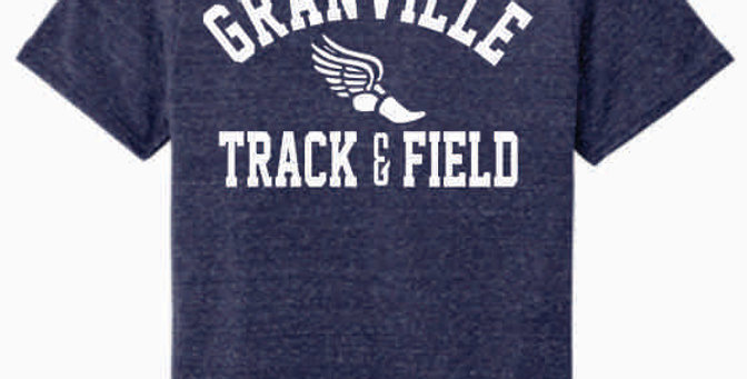 Granville Track and Field Navy Soft T shirt