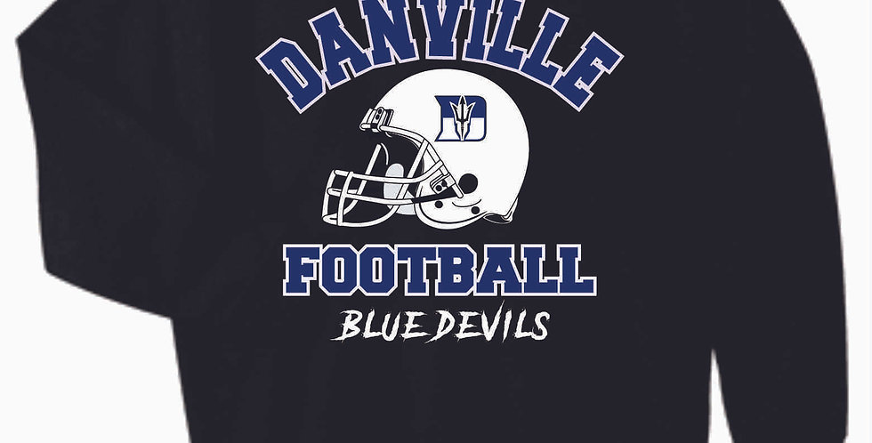 Danville Football Black Generic Cotton Crew
