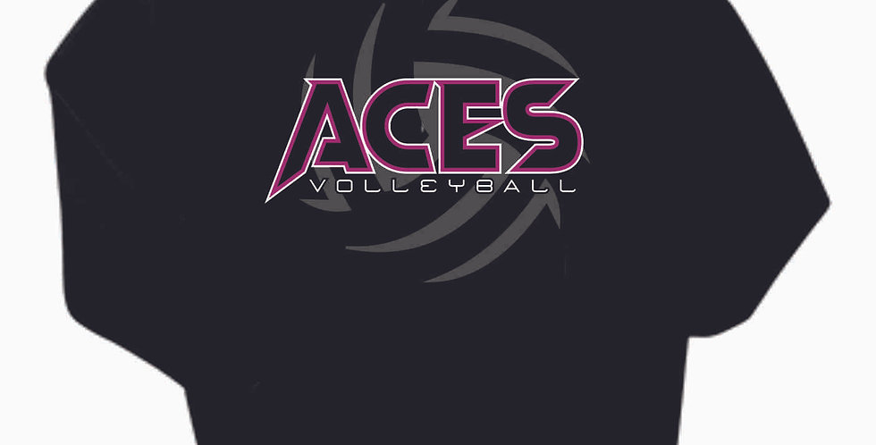 Aces Volleyball Black Cotton Hoody