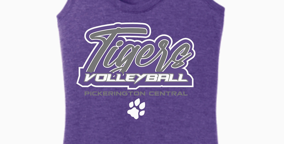Tiger Volleyball Purple Script Women's Tank