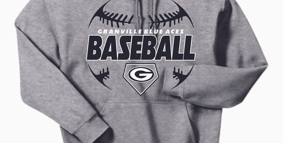 Granville Baseball Grey Cotton Hoody