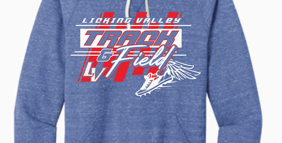 Licking Valley Track and Field Royal Soft Hoody