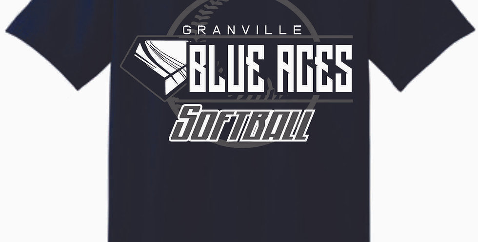 Granville Softball Navy Cotton T Shirt