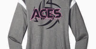 Aces Volleyball Ladies Hoodie