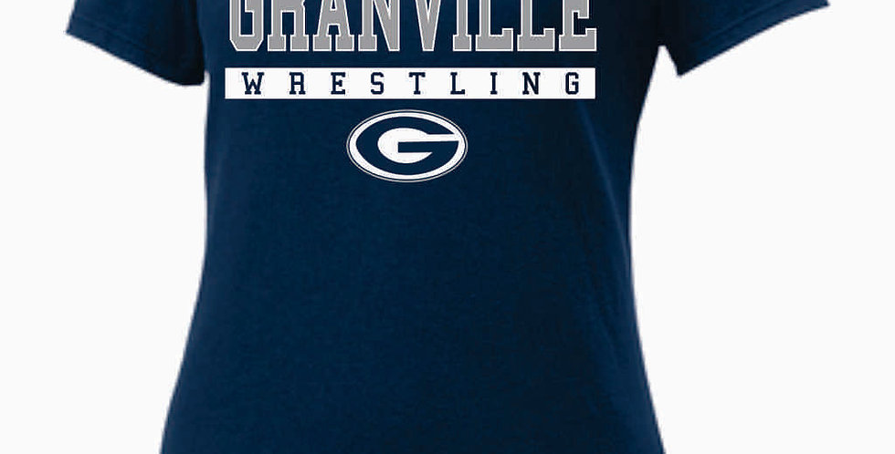GHS Nike Wrestling Navy Ladies Core Cotton Scoop Neck Tee