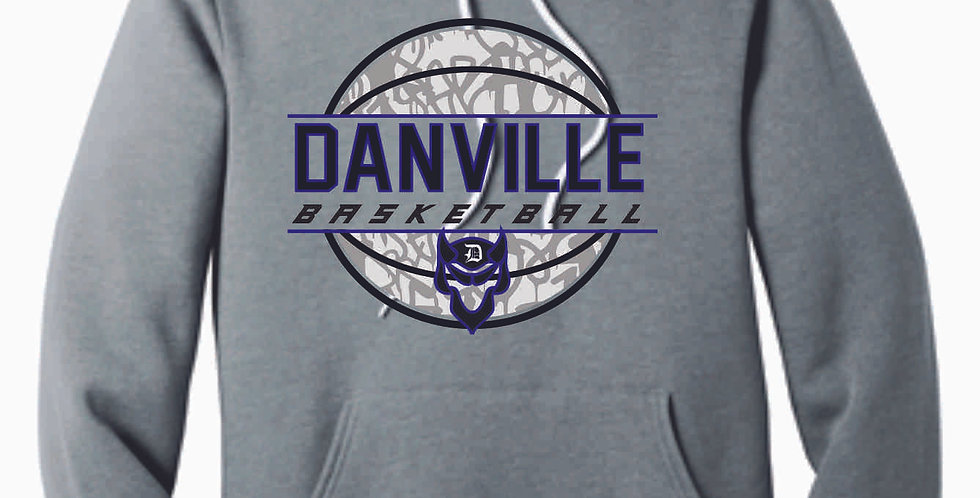 Danville Basketball Grey Soft Hoody